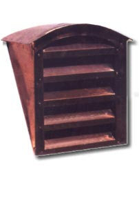 Arch Top Copper Roof Vent / Dormer Vent