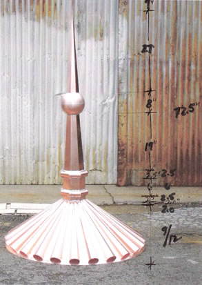 Fluted Old Chicago Style Turret Finial  72 inch