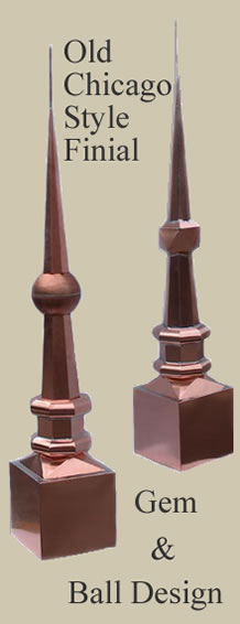 Old Chicago Style Gem and Ball Finial