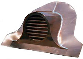 Mantel Clock Copper Roof Vent / Dormer Vent
