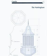 Signature Series Nottingham Copper Cupola Drawing