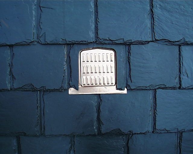 Copper Flush Mounted Slate Roof Vent / Integra Roof Vent