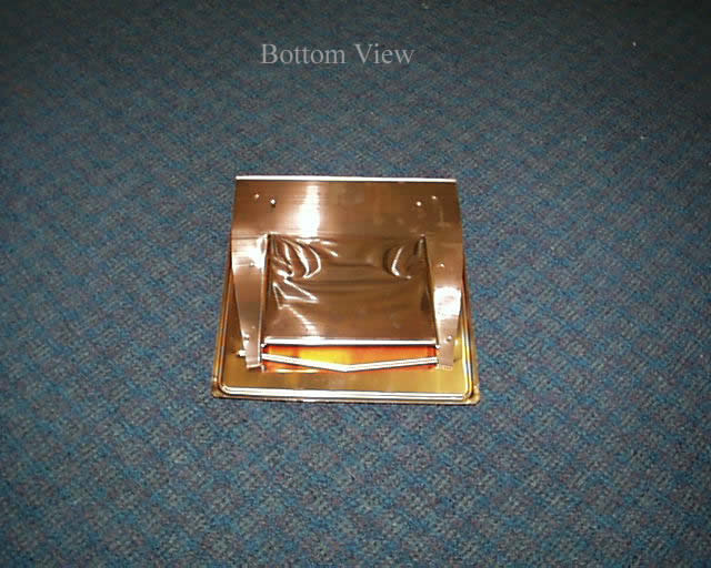 Copper Flush Mounted Slate Roof Vent / Integra Roof Vent Bottom View
